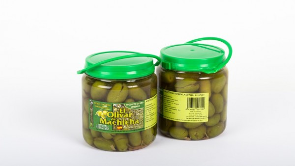 CD.81. Aceituna Verde Partida Casera Temporada. . Producto de la zona. El olivar de Machicha 500gr.
