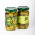 CD.92.Aceituna Verde Rellena de Pepinillo. El olivar de Machicha. 315g.