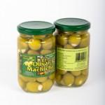 CD.96.Aceituna Verde Rellena de Ajo. El olivar de Machicha. 315g.