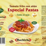 Tomate frito con atún. Especial pastas. Machicha